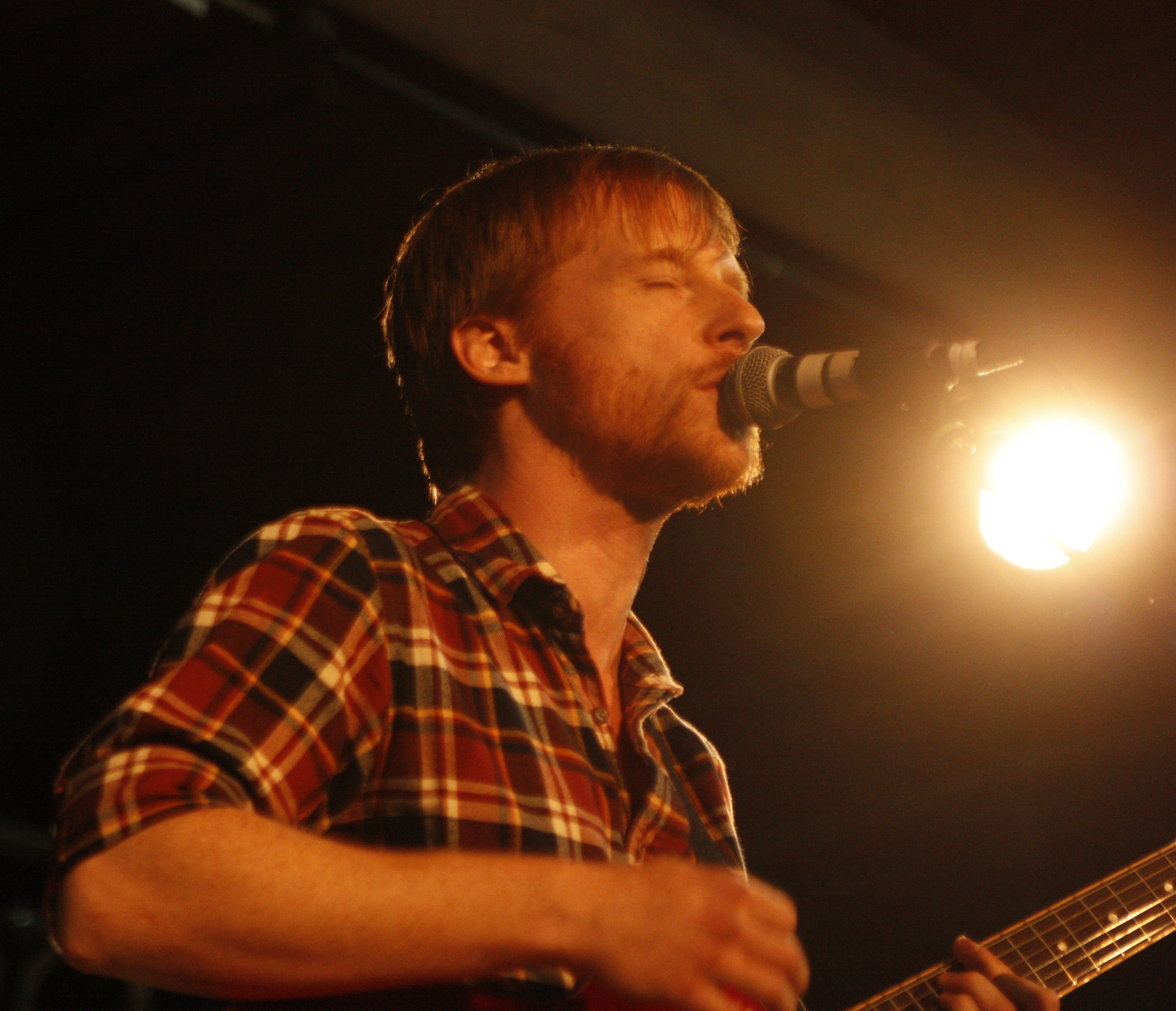 Hanging outside The Masquerade with Kevin Devine