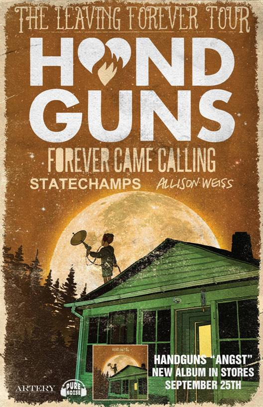 Handguns announce plans for headline tour in Sept/Oct featuring support from Forever Came Calling, State Champs, and Allison Weiss