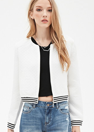 Forever 21 Quilted Bomber Jacket ($32.90)